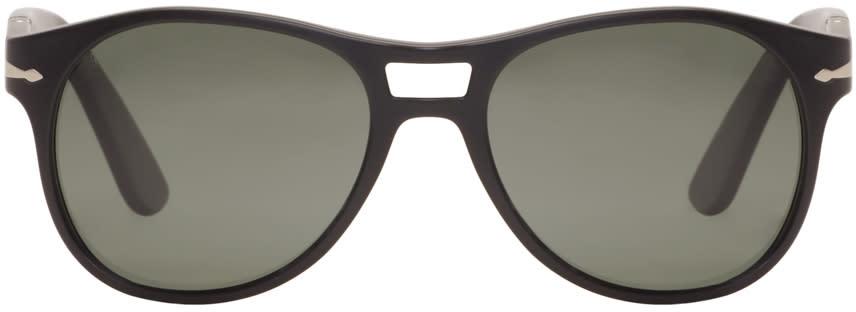 Persol Black Matte Aviator Sunglasses