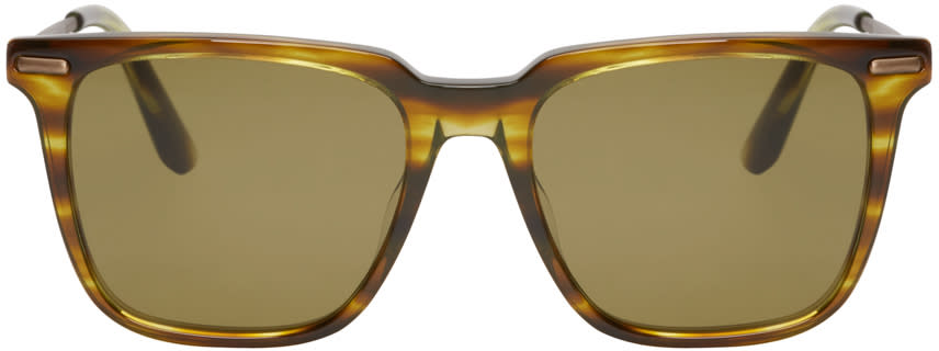 Bottega Veneta Green Acetate Square Sunglasses
