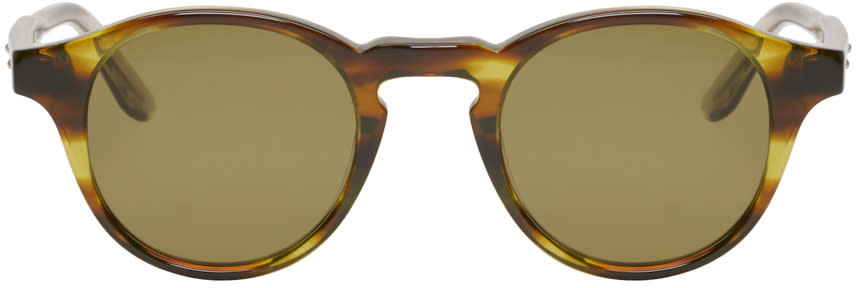 Bottega Veneta Green Acetate Round Sunglasses