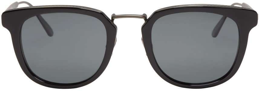 Bottega Veneta Black Square Retro Sunglasses