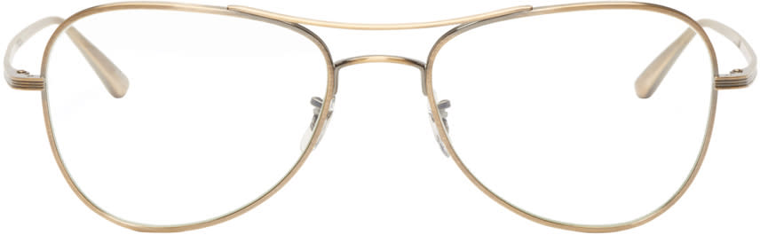 Oliver Peoples The Row Gold Executive Suite Optical Glasses