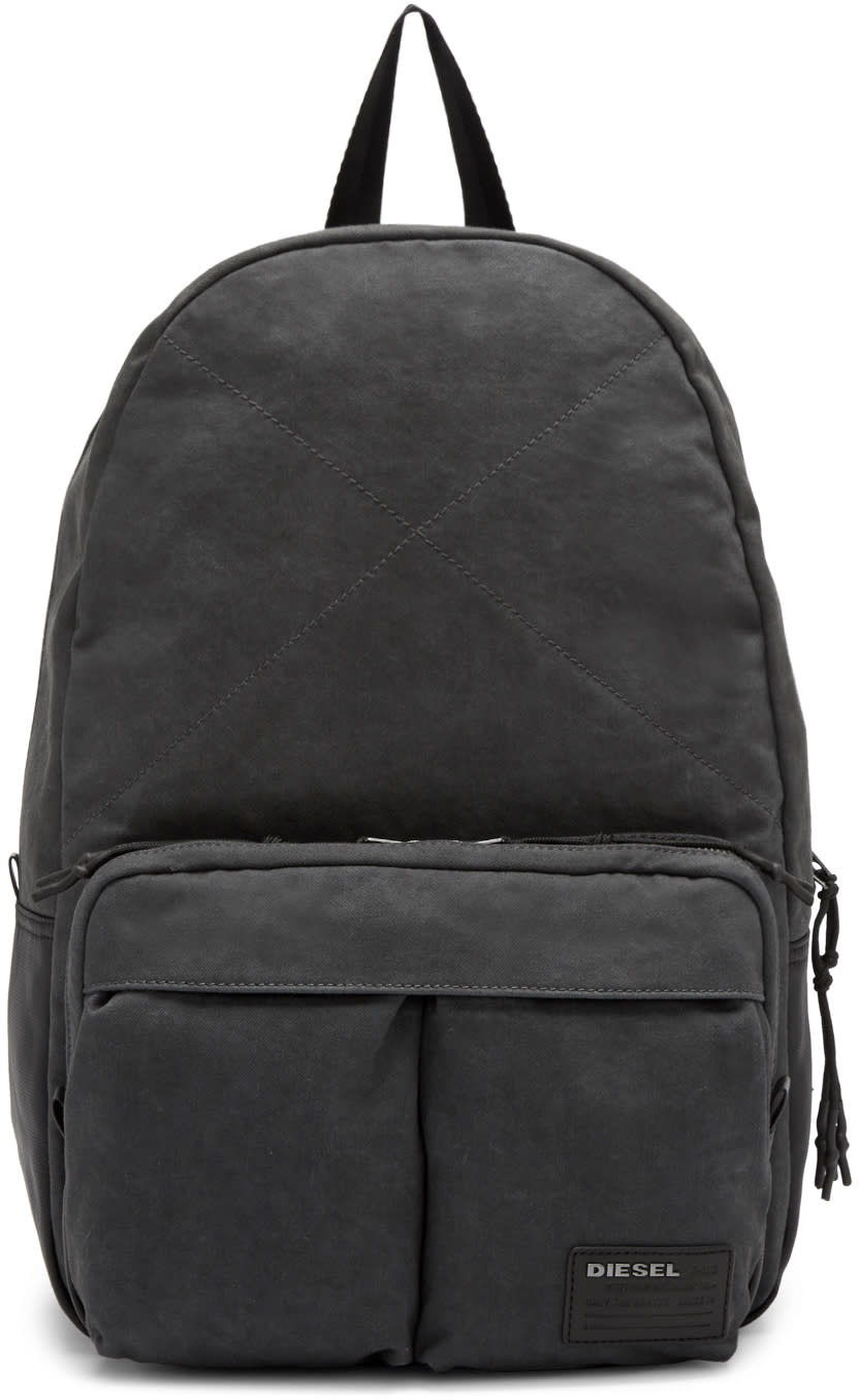 Diesel Grey Denim D-keep Backpack