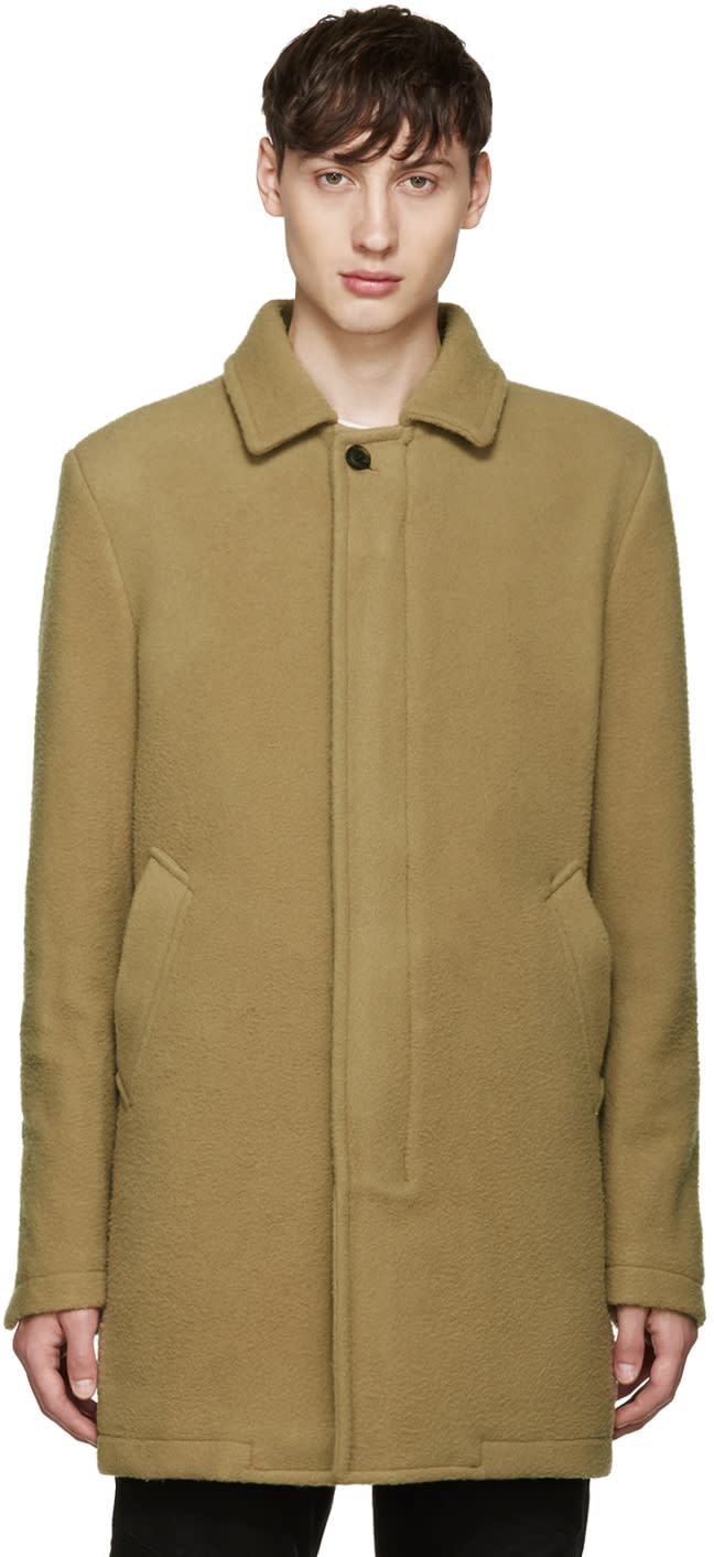 Diesel Tan Wool W-velvet Coat