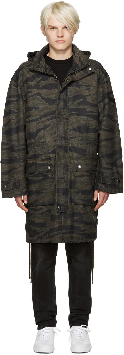 Diesel Black Camo J-tiger Coat