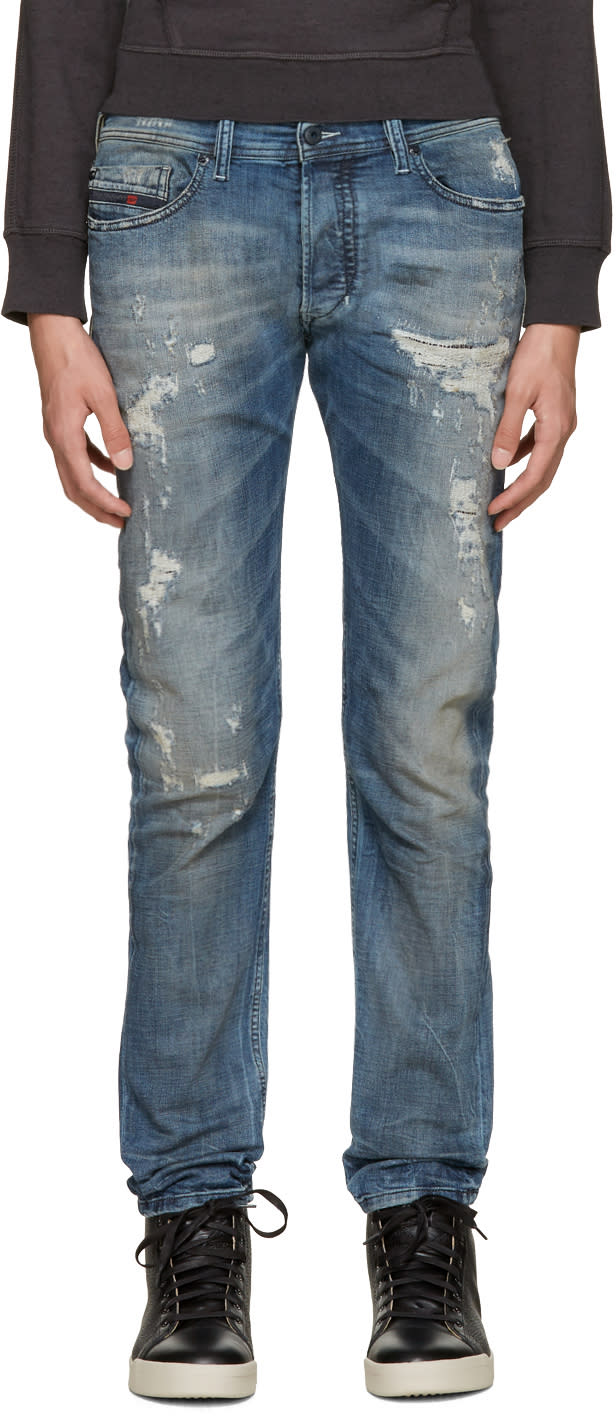 Diesel Blue Distressed Tepphar Jeans
