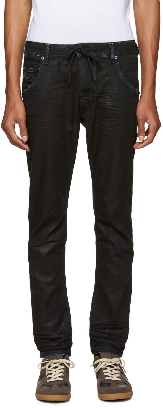 Diesel Blue Krooley Cb-ne Coated Jeans