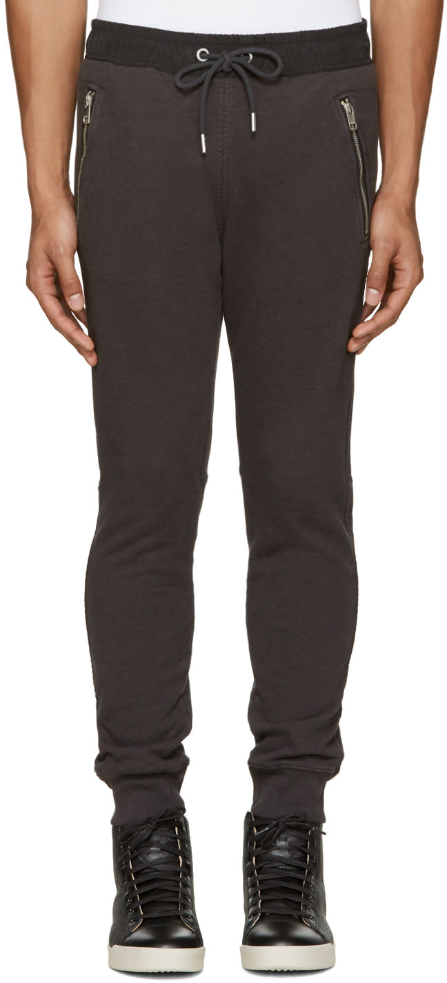 Diesel Grey and Black P-herk Lounge Pants