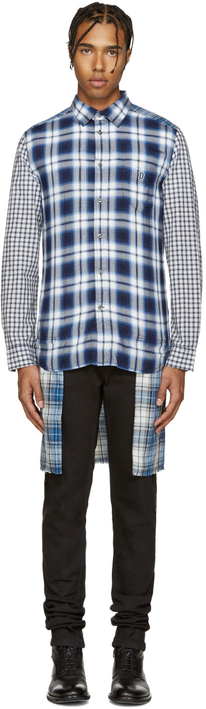 Diesel Blue Plaid S-hum Shirt