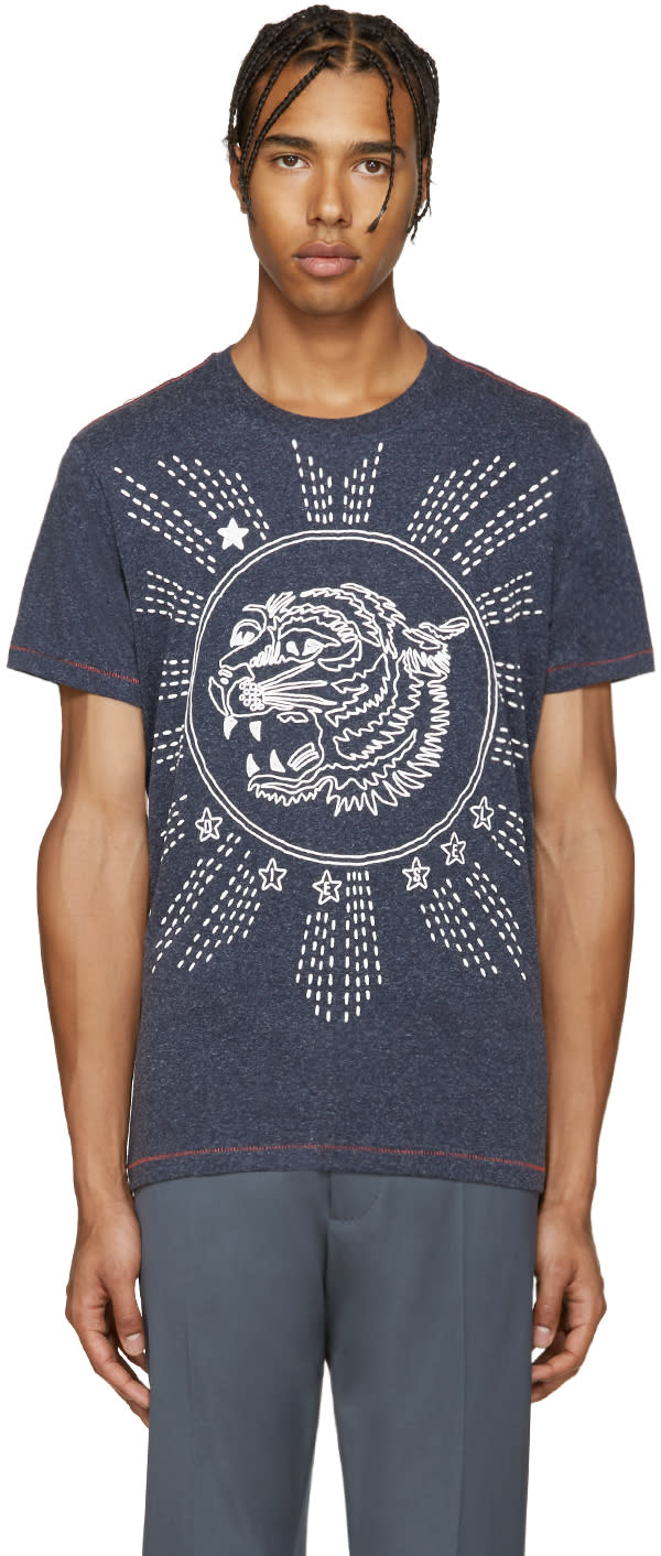 Diesel Navy T-joe-gu Tiger T-shirt