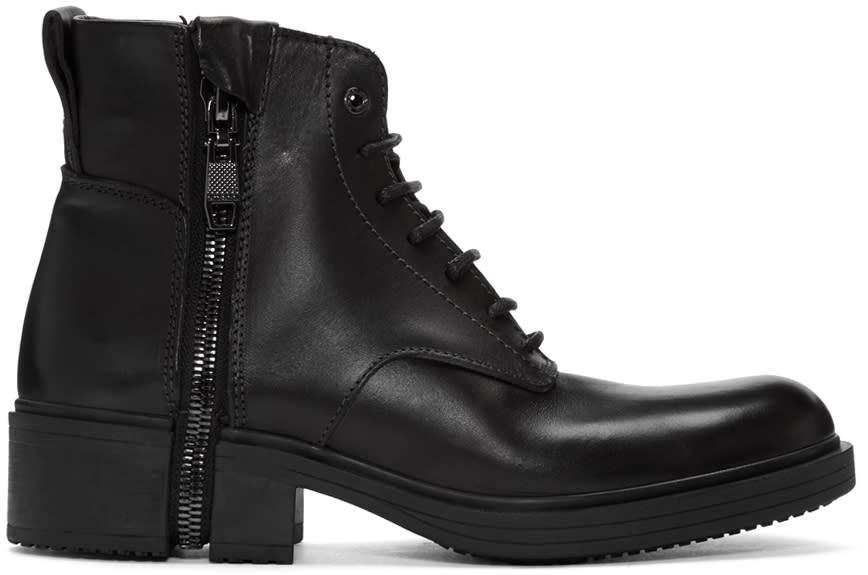 Diesel Black D-rr Laced Boots