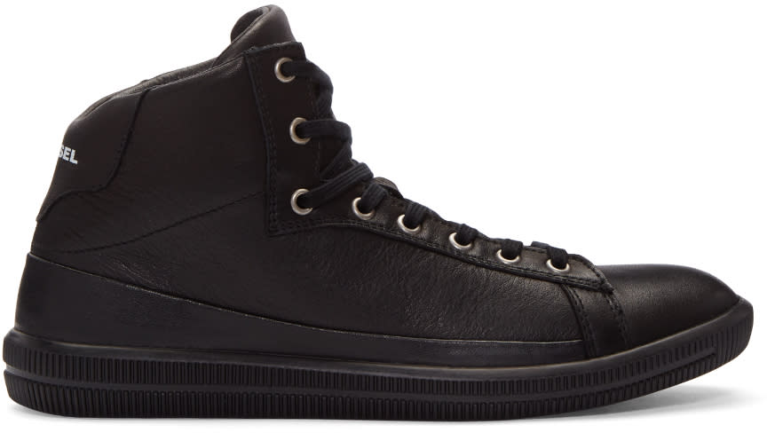 Diesel Black S-naptik Mid-top Sneakers