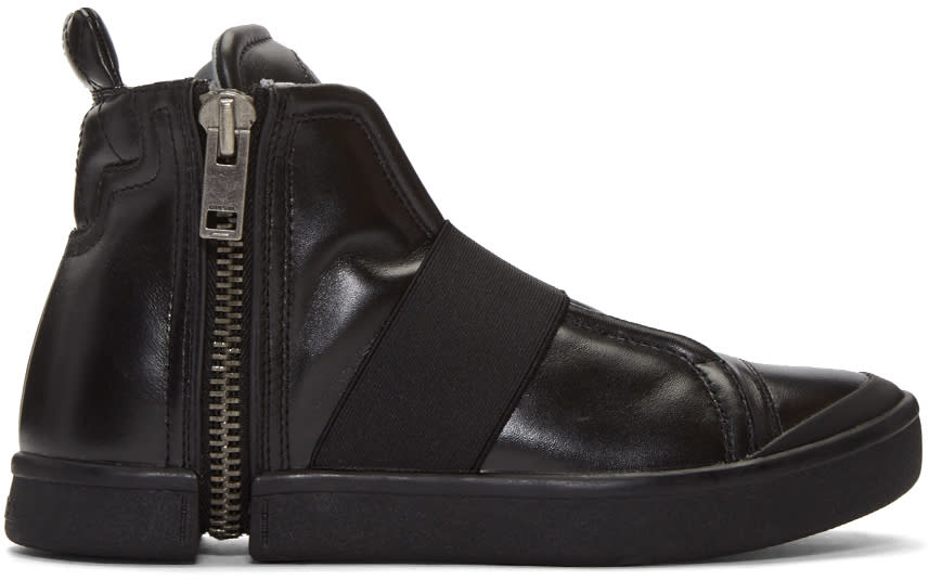 Diesel Black S-nentish Strap High-top Sneakers