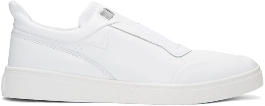 Diesel White S-hype Slip-on Sneakers