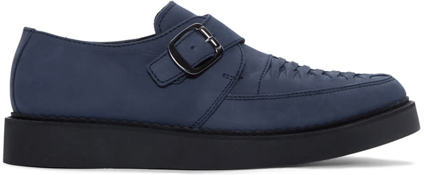 Diesel Blue Suede D-khallat Creepers