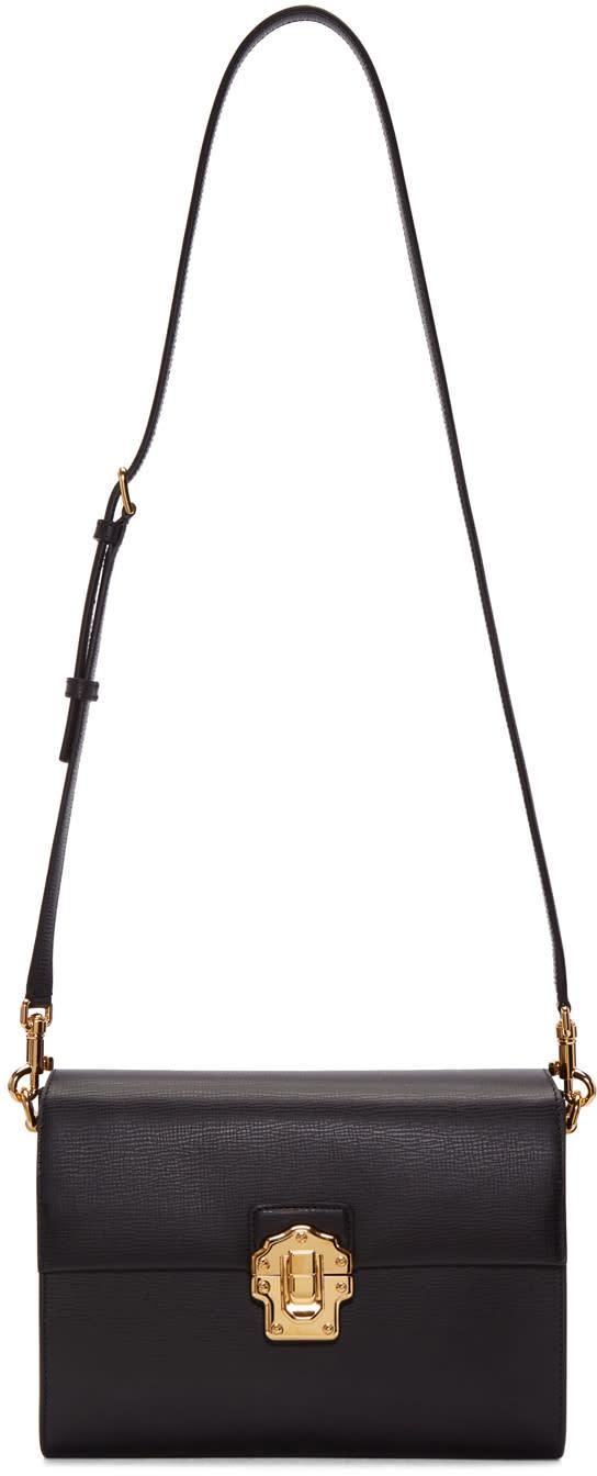 078ed06242bd Dolce and Gabbana Black Iguana-embossed Lucia Shoulder Bag