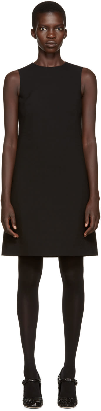 Dolce and Gabbana Black Wool Crepe Dress