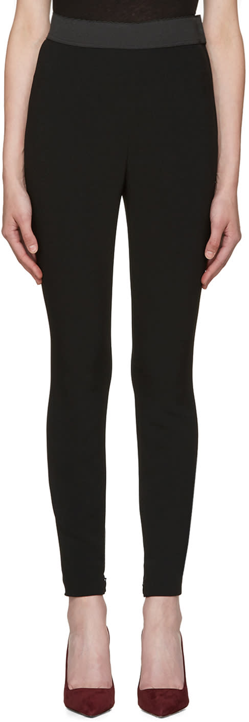 Dolce and Gabbana Black Cady Pesante Trousers