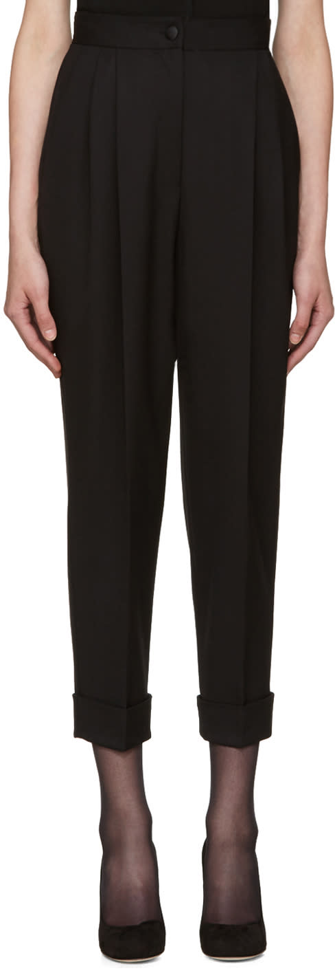 Dolce and Gabbana Black High-rise Trousers