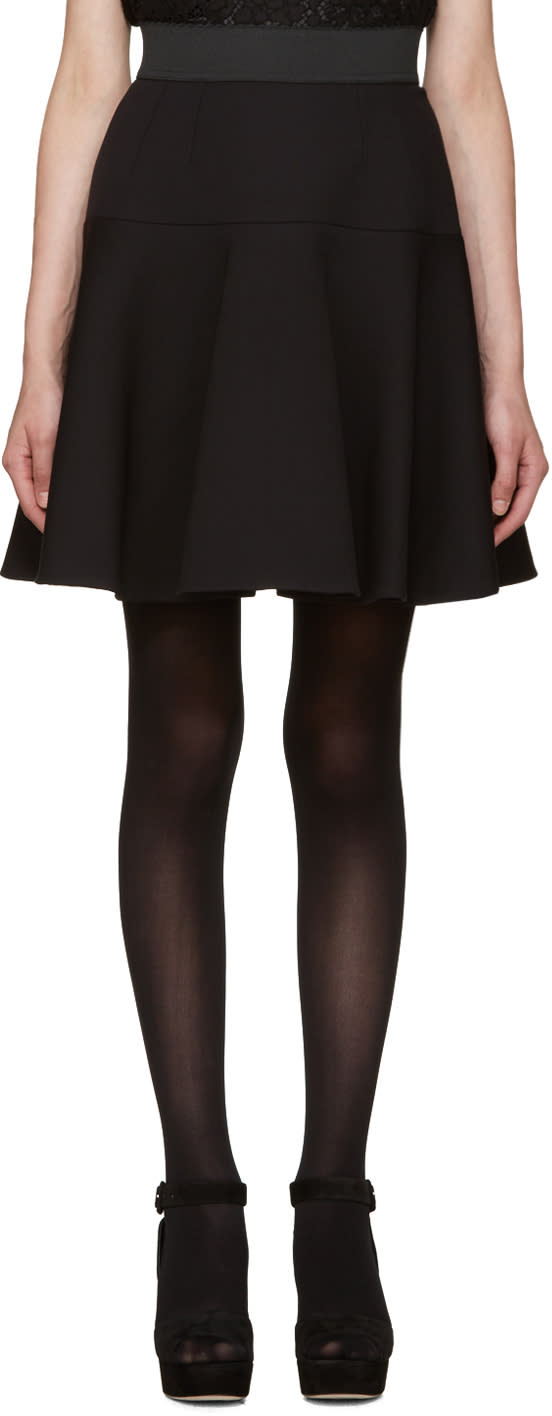 Dolce and Gabbana Black Flared Skirt