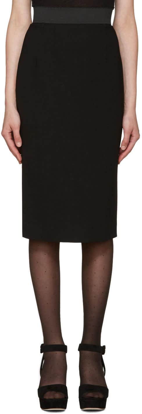 Dolce and Gabbana Black Mid-length Skirt