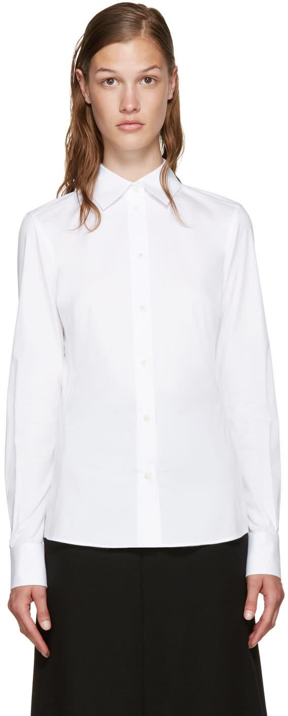 Dolce and Gabbana White Poplin Shirt