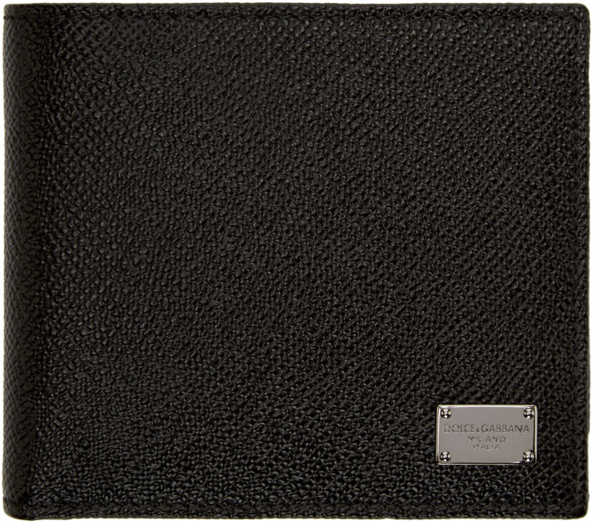 Dolce and Gabbana Black Leather Wallet