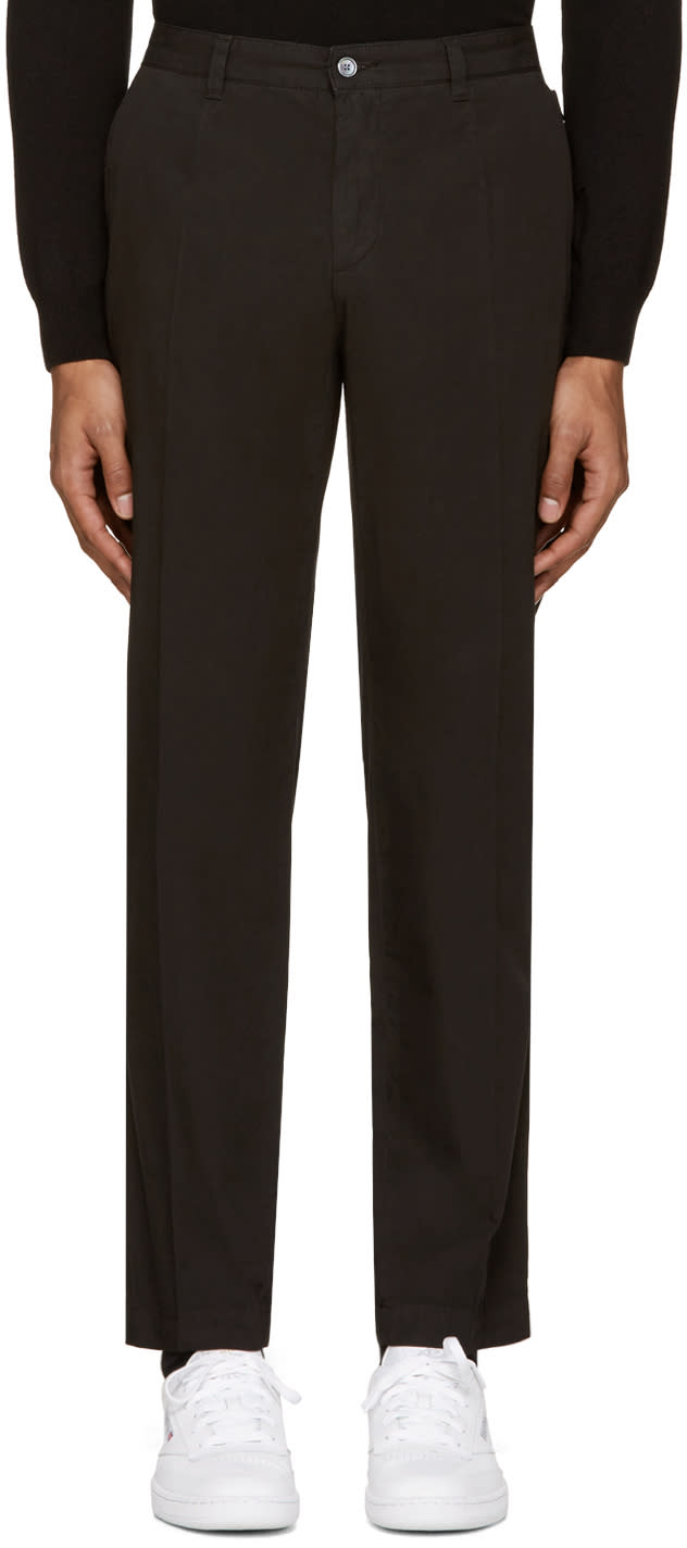 Dolce and Gabbana Black Cotton Trousers