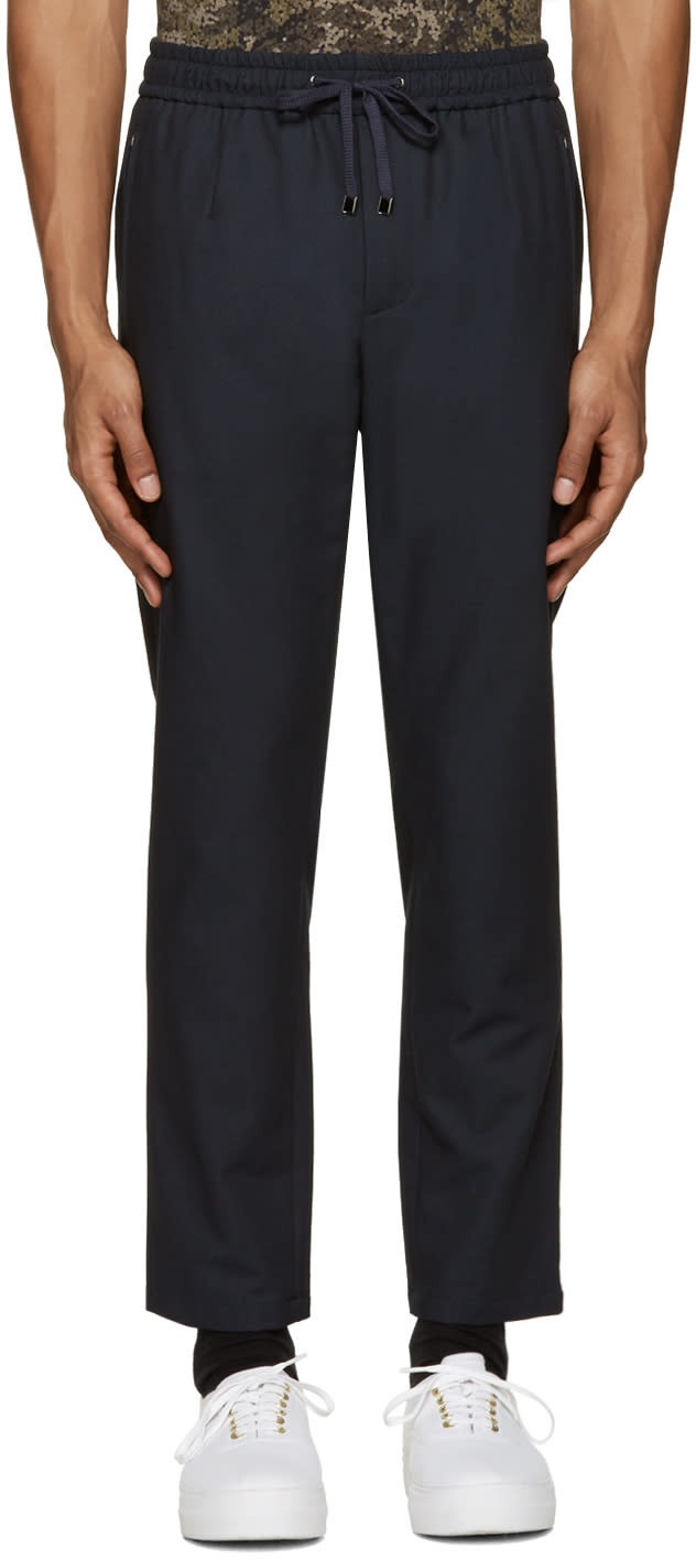Dolce and Gabbana Navy Drawstring Trousers