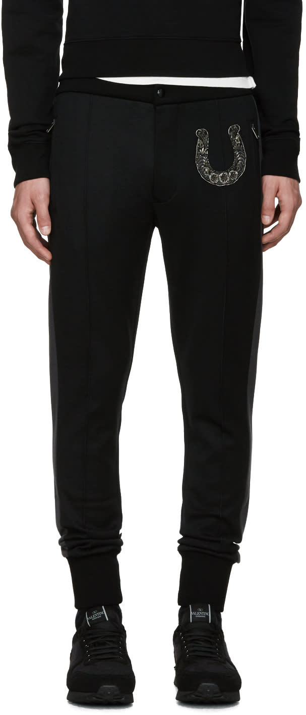 Dolce and Gabbana Black Skinny Horseshoe Trousers