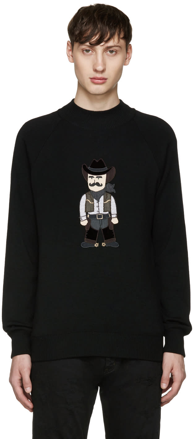 Dolce and Gabbana Black Cowboy Sweater