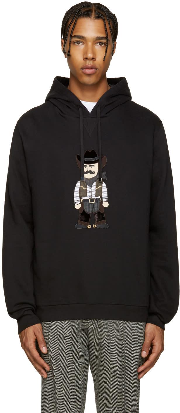 Dolce and Gabbana Black Cowboy Hoodie