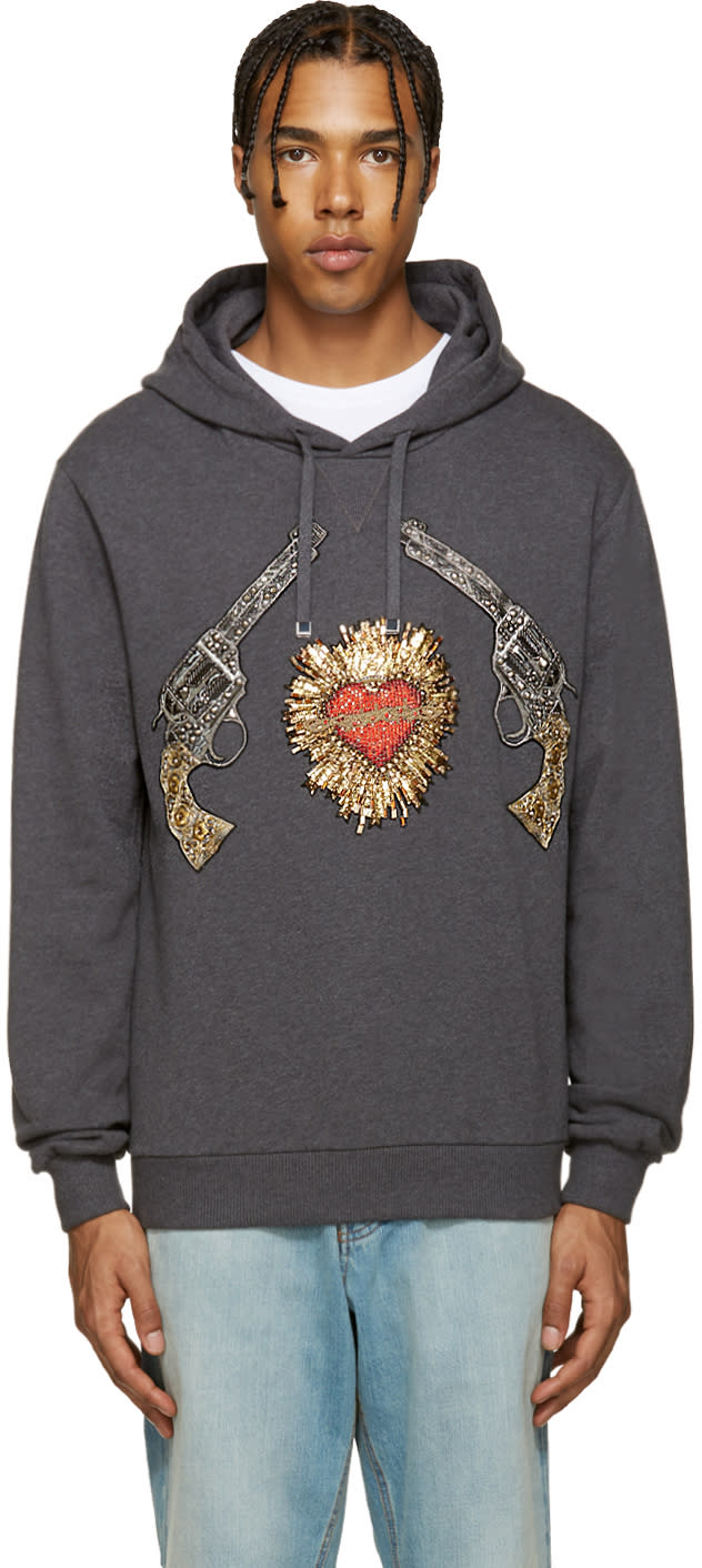 Dolce and Gabbana Grey Romeo and Juliet Hoodie