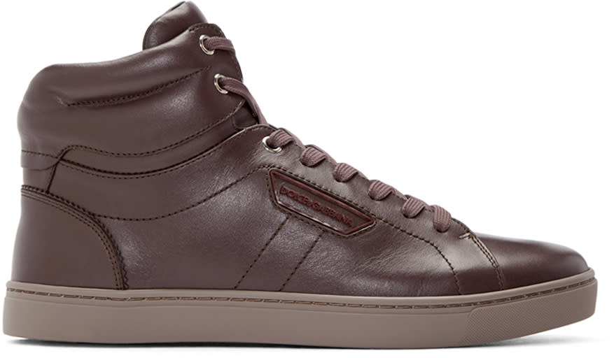 Dolce and Gabbana Purple High-top Sneakers