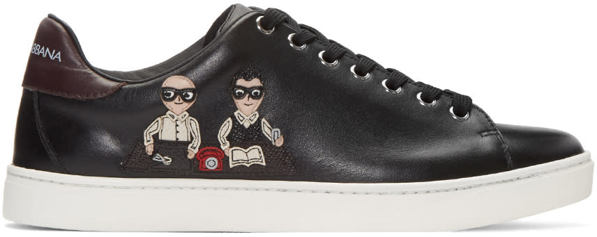 Dolce and Gabbana Black Designers Sneakers