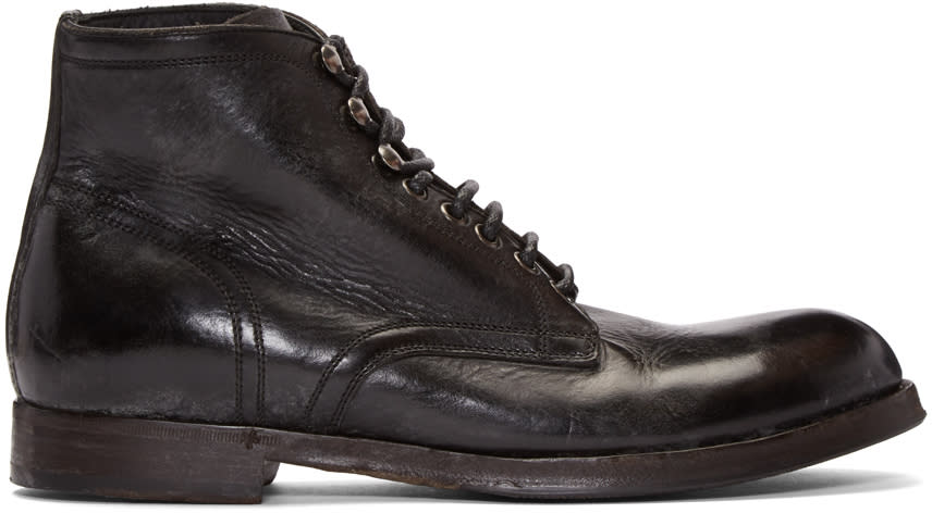 Dolce and Gabbana Black Leather Boots