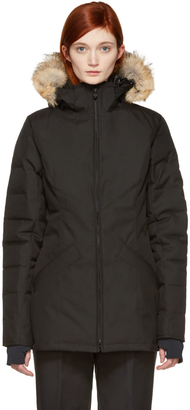 Image of Canada Goose Black Down Belmont Parka