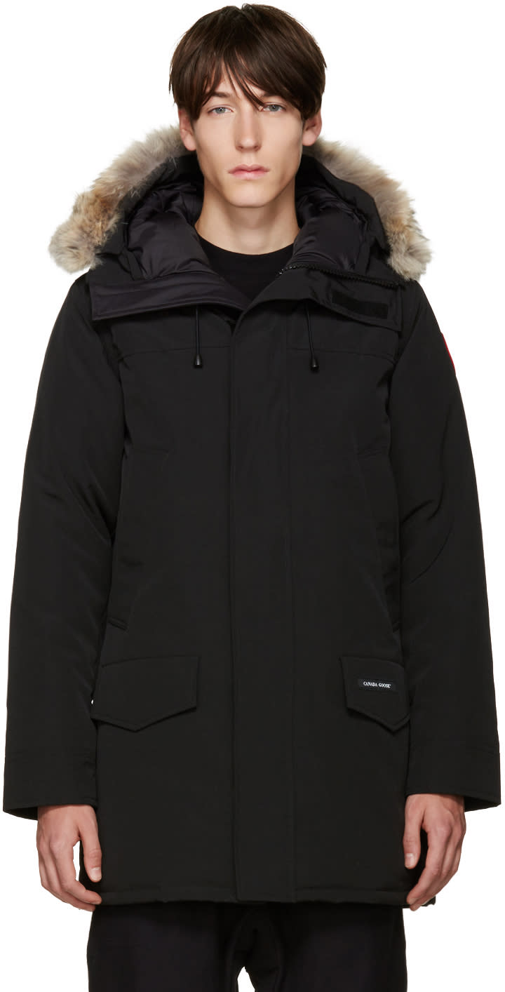 Image of Canada Goose Black Down and Fur Langford Parka