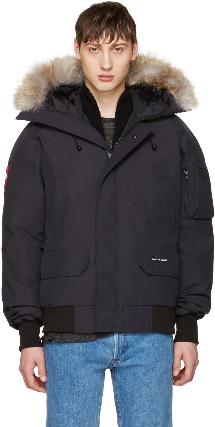 Canada Goose Navy Down Chilliwack Bomber Jacket
