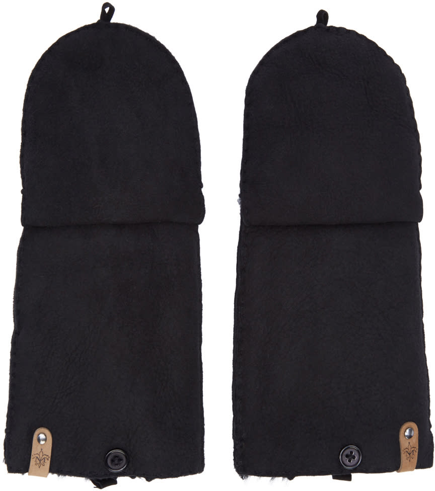 Mackage Black Orea Convertible Gloves