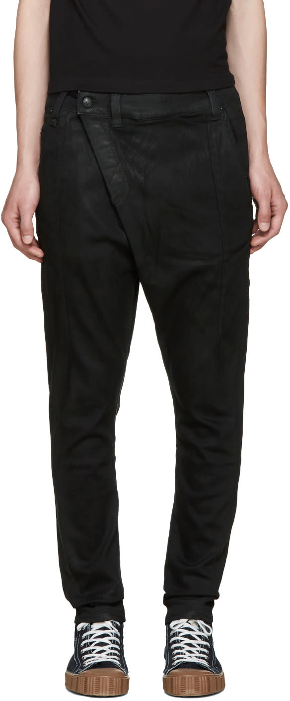 R13 Black X-over Jeans