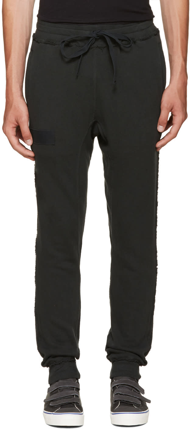 R13 Black Raw-cut Lounge Pants