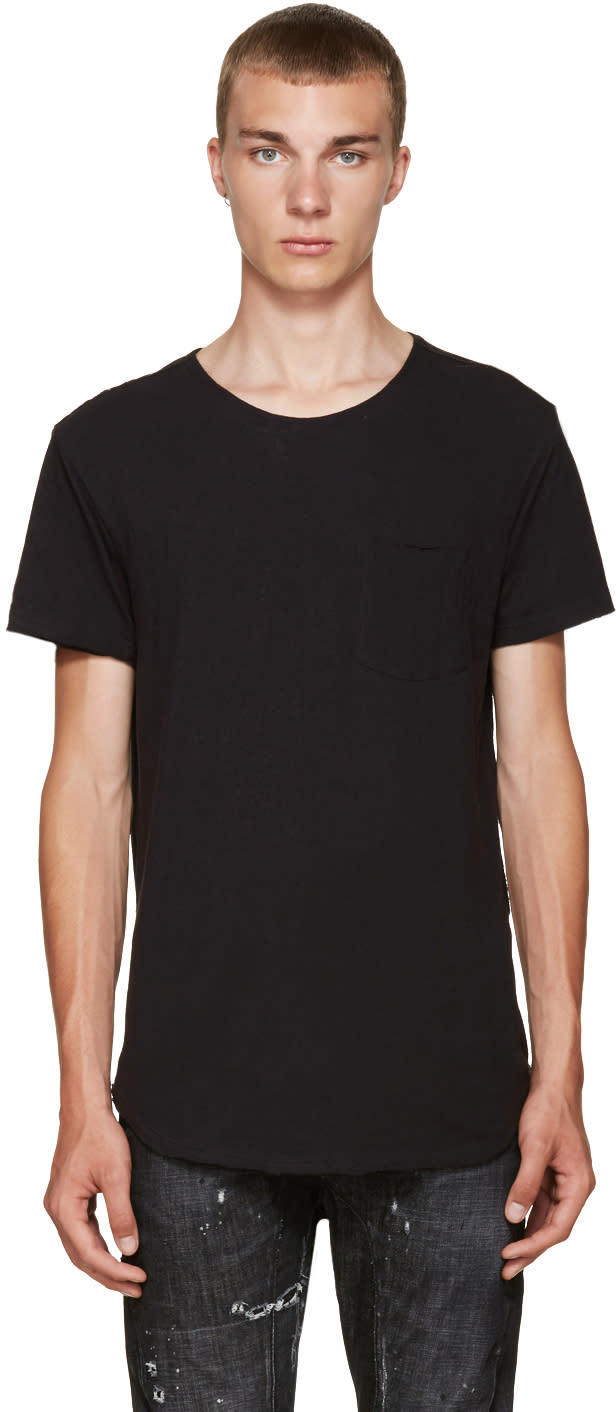 R13 Black Pocket T-shirt