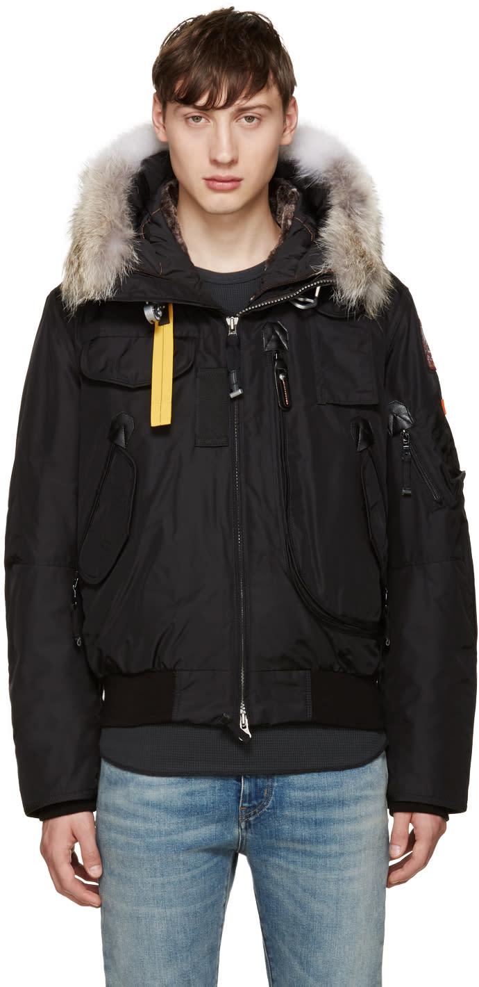 Parajumpers Black Down Gobi Coat