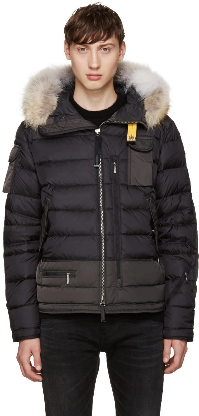 Parajumpers Black Down Skimaster Jacket