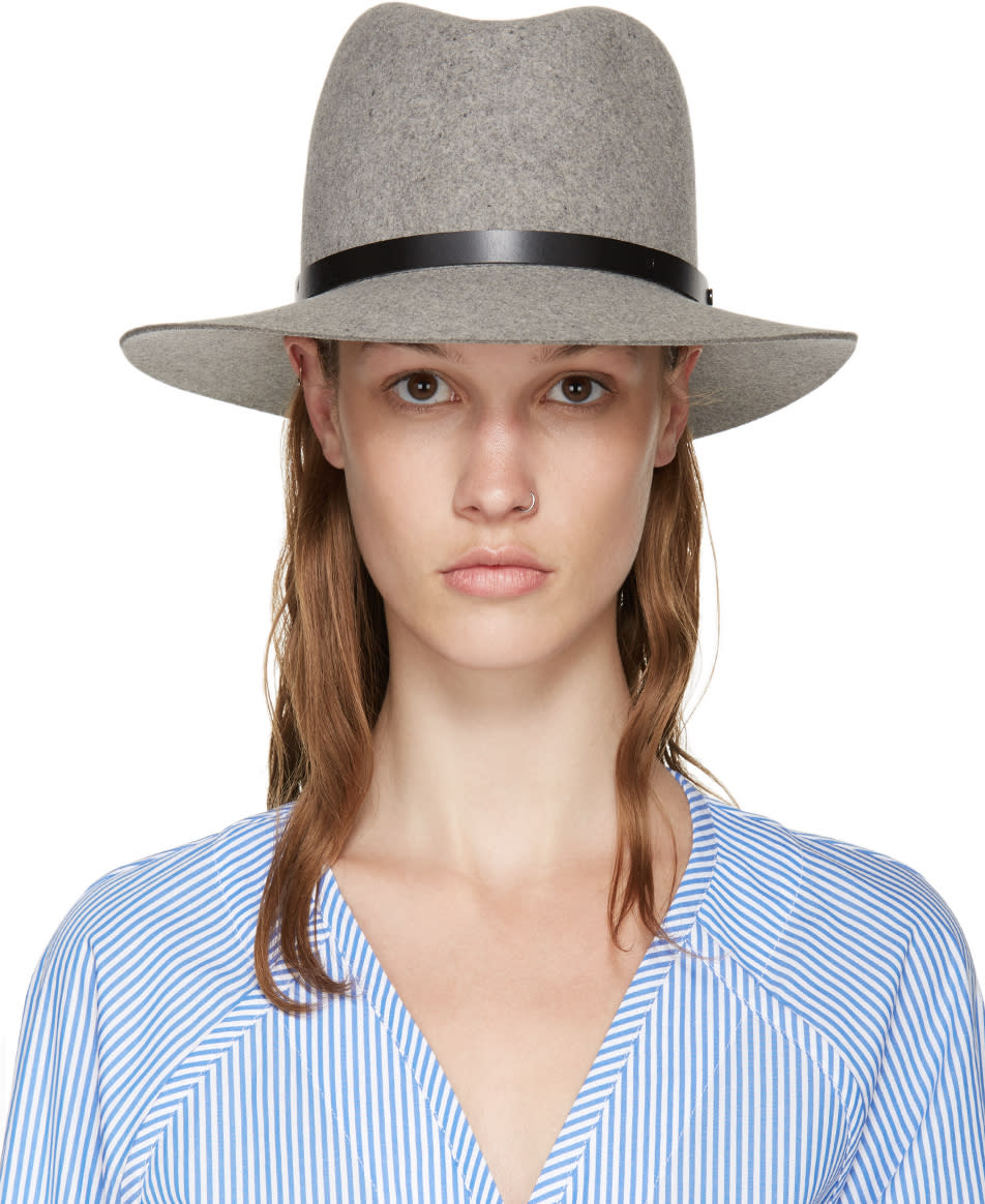 Rag and Bone Grey Felted Wool Fedora