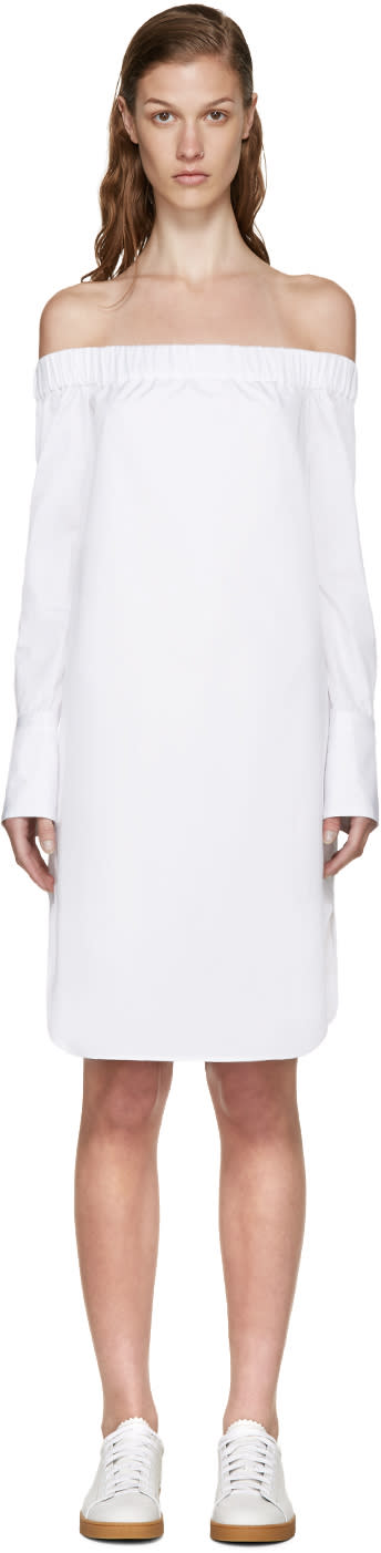 Rag and Bone White Off-the-shoulder Kacy Dress