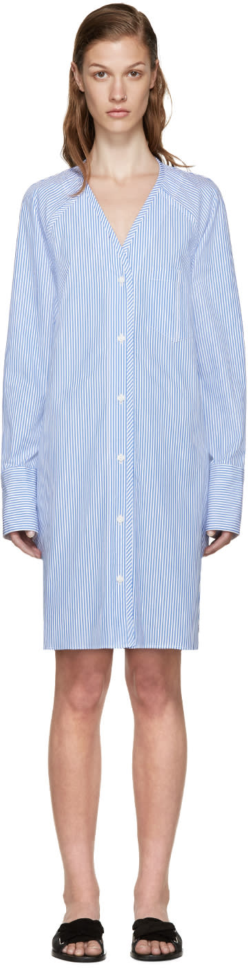 Rag and Bone Blue and White Striped Shults Dress