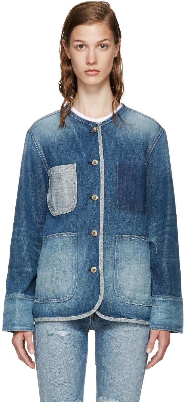 Rag and Bone Blue Denim Santa Cruz Jacket
