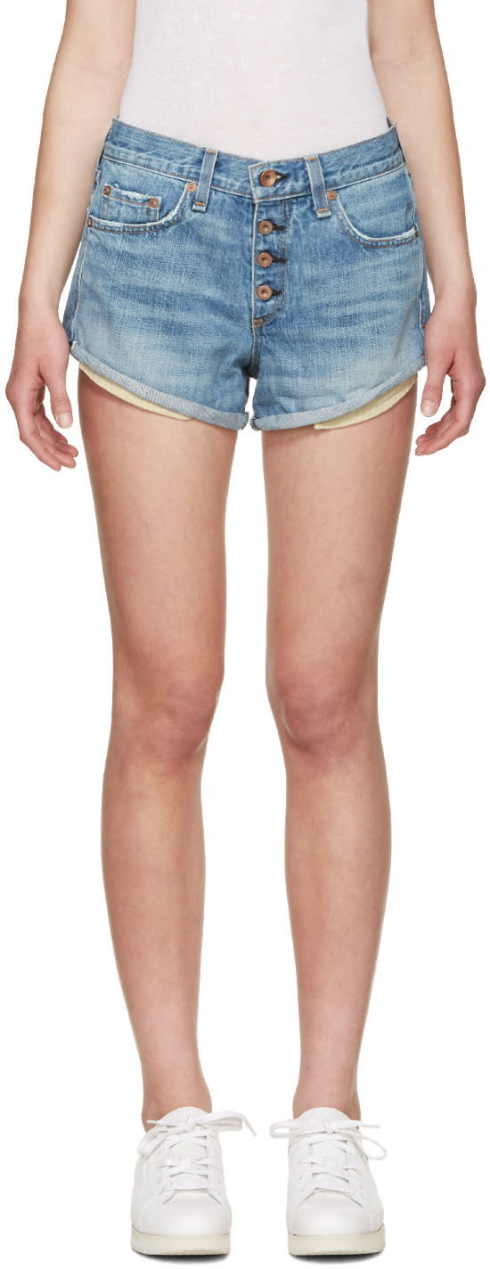 Rag and Bone Blue Jeans Marilyn Fly Shorts