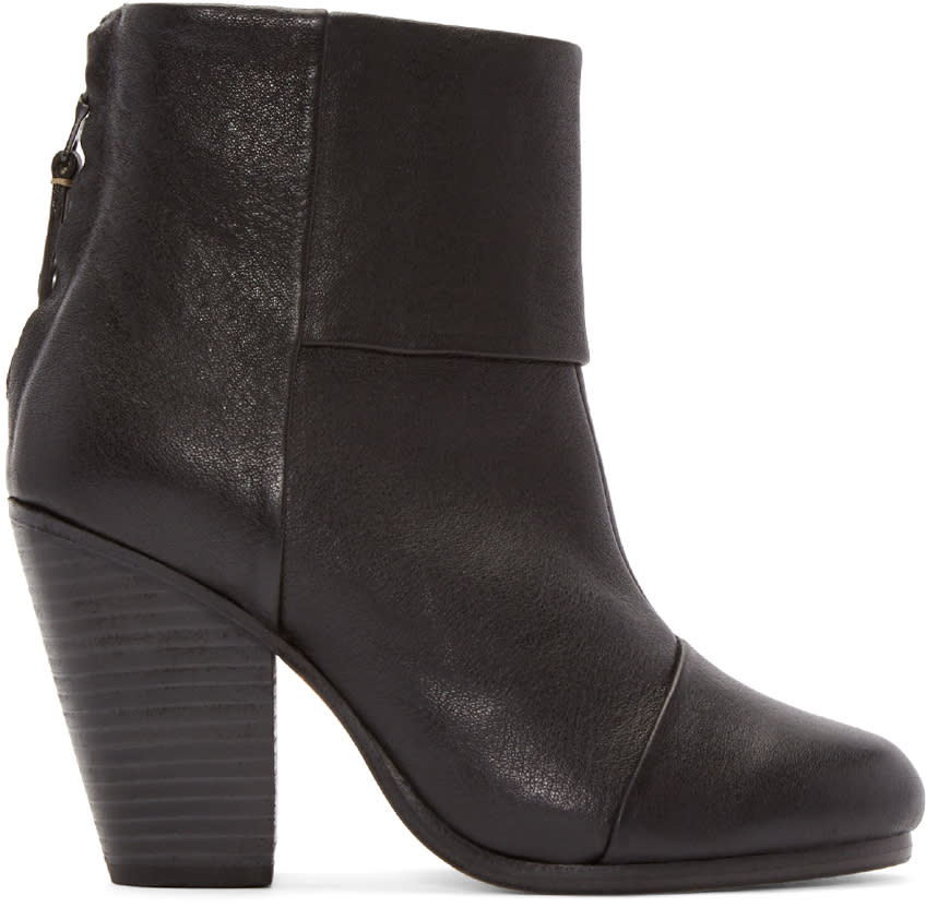 Rag and Bone Black Classic Newbury Boots